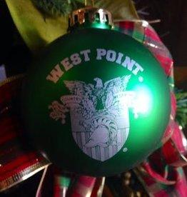 Shatterproof Single Ornament (W PT/Crest), GREEN, One Sz