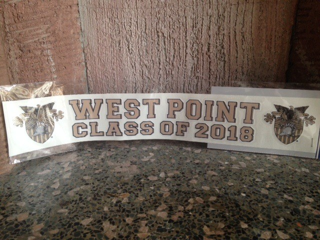 West Point Class of 2018 Decal with Crest (FINAL SALE)