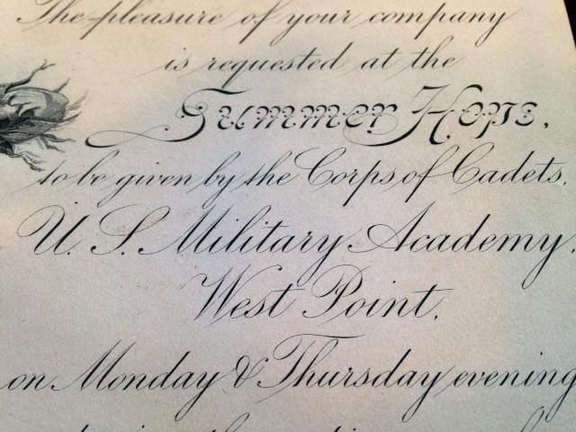 Vintage West Point Hop Invitation