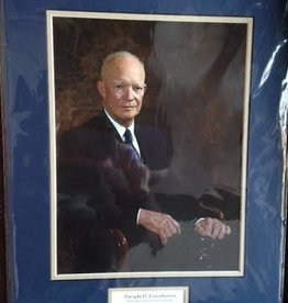 Dwight Eisenhower Matted Print (14 x 18)