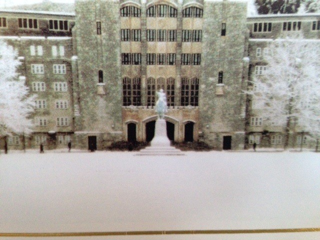 Holiday Card: Washington Hall and Cadet Chapel