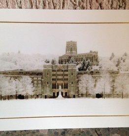 Christmas Card: Washington Hall and Cadet Chapel