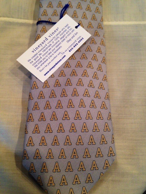"Vineyard Vines Tie with Army ""A"""