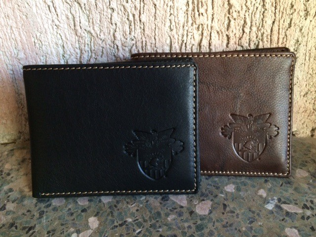 Leather Wallet with USMA Crest