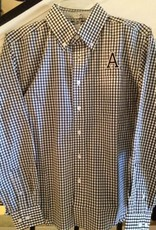 "Men's Gingham Oxford with Army ""A"""