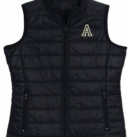 "Women's Quilted Vest with Army ""A"""
