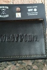 Trifold Contrast Stitch WEST POINT Wallet - Black