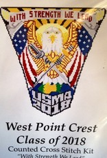 West Point Class of 2018 Crest Cross Stitch Kit