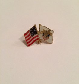 US Flag and Crest Pin