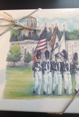 Four West Point Color Guard Coasters in Printed Box