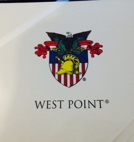 Ivory Informal Notecard with USMA Crest