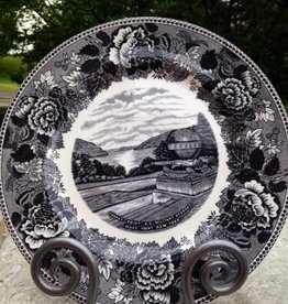 """Trophy Point""/China Dinner Plate/Gray"