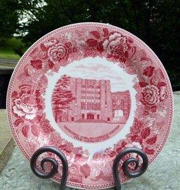 """Washington Hall""/West Point Dinner Plate/Rose"
