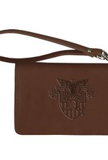Leather Wrist Wallet with USMA Crest (Black or Brown)