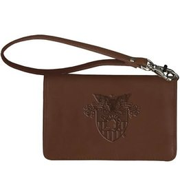 Leather Wrist Wallet with USMA Crest