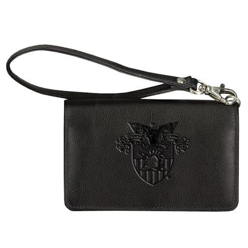 West Point Crest Leather Wrist Wallet