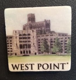 "Full color Washington Hall with the words ""West Point"" on magnet"