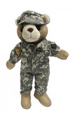 "Female Teddy Bear in ACU's (10"")"