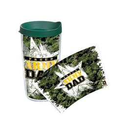 Proud Army Dad Tervis Tumbler w Green Lid, 16 oz.