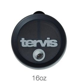 Tervis 16 0z Straw Lid Black w Gray