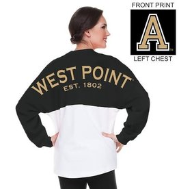 Black & White Colorblock Spirit Jersey