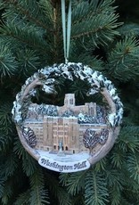 Washington Hall Ornament (Hand Painted/Hestia Creations)