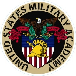 "Circle West Point Military Academy Decal With Crest (New Style) (4"" x 4"")"