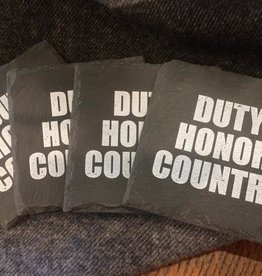 Slate Coasters: Duty, Honor, Country