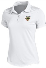Under Armour Women's Polo with USMA Crest on left chest area.