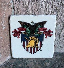 Individual Stone West Point Coaster (USMA Crest)