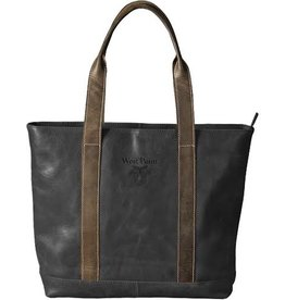 Leather Tote in Black with West Point/Crest (3 to 4 weeks delivery)