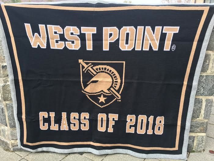 West Point Class of 2018 Knit Throw Blanket