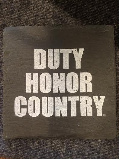 Individual Slate Coaster: Duty, Honor, Country