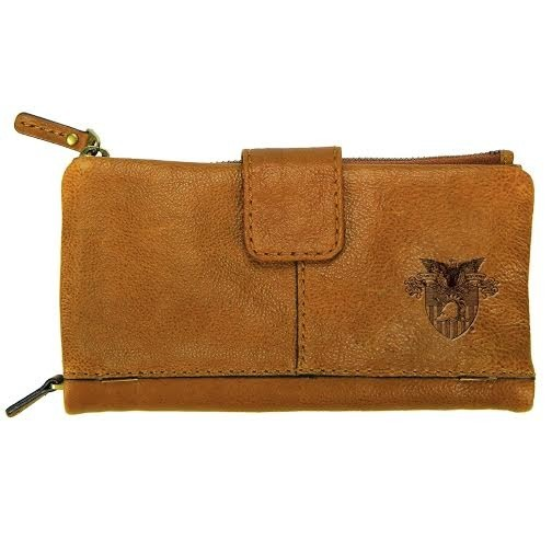 Westbridge Leather Wallet with Crest