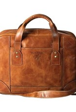 Leather Briefcase with Crest