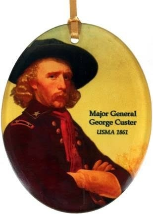 George Custer Glass Ornament