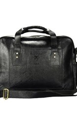 Leather Briefcase (Black) w Crest/Optional Class Year (DROP SHIP ONLY)