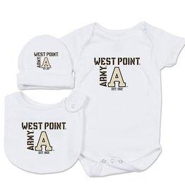 Infant Hat, Bib and Onesie Set