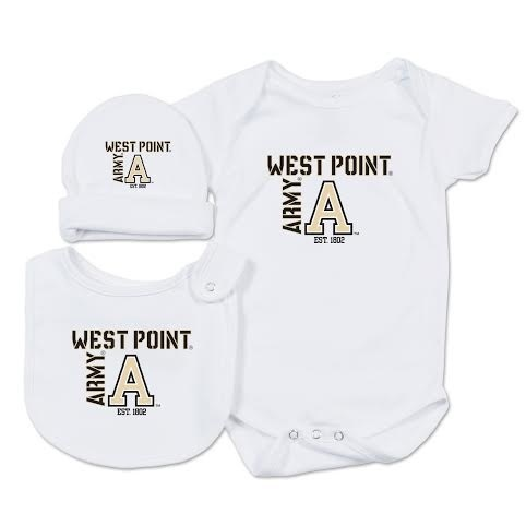 Infant Hat, Bib and Onesie Set