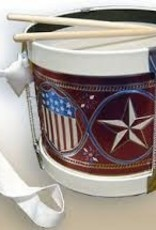 Embossed Star and Shield Drum