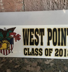 West Point Class of 2018 Decal with Crest (8 x 3)