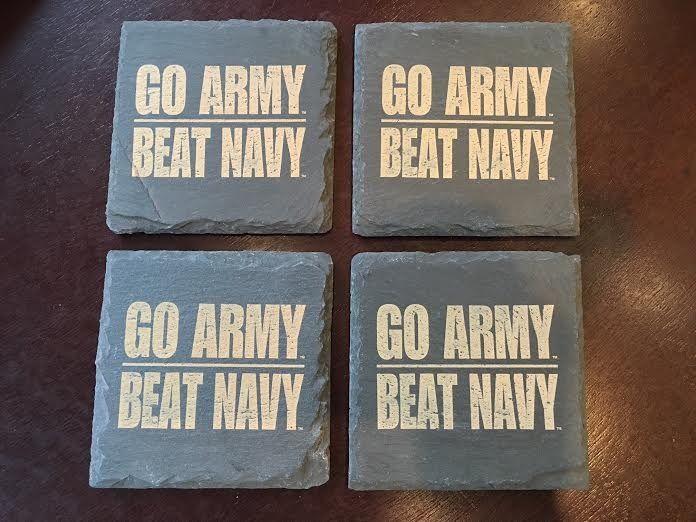 GO ARMY BEAT NAVY Slate Coasters