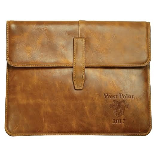 Leather Tablet Case with USMA Crest