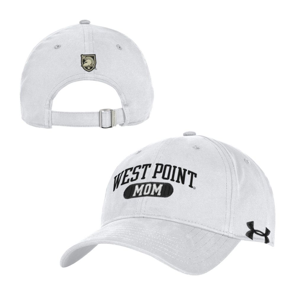 "Under Armour ""Mom"" White Chino Baseball Cap"