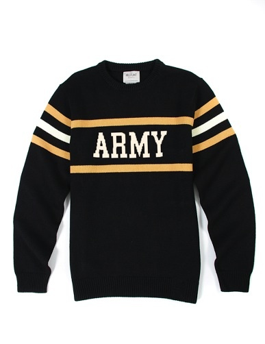 """Army"" Stadium Sweater"