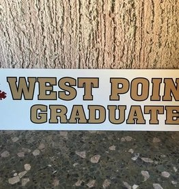 West Point Graduate Bumper Strip, 3 x 12