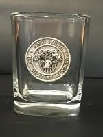 Shot Glass with Pewter Crest