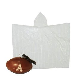 Clear Rain Poncho stored in Football