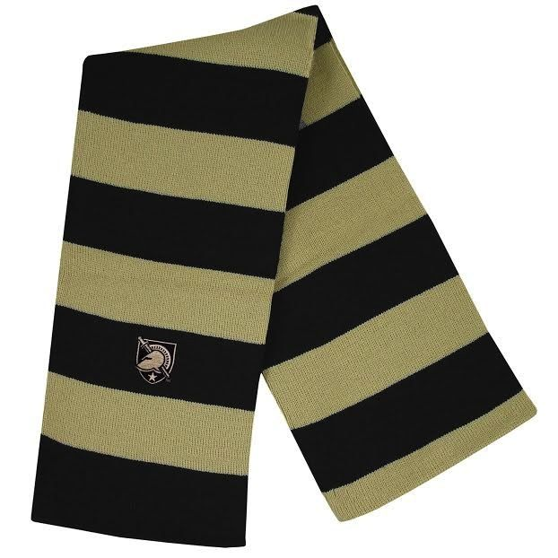Rugby Striped Scarf with West Point Shield
