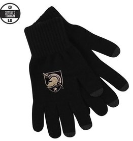Black Knit Texting Glove with Army Shield